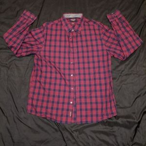 Michael Kors Red Flannel Button Down Shirt